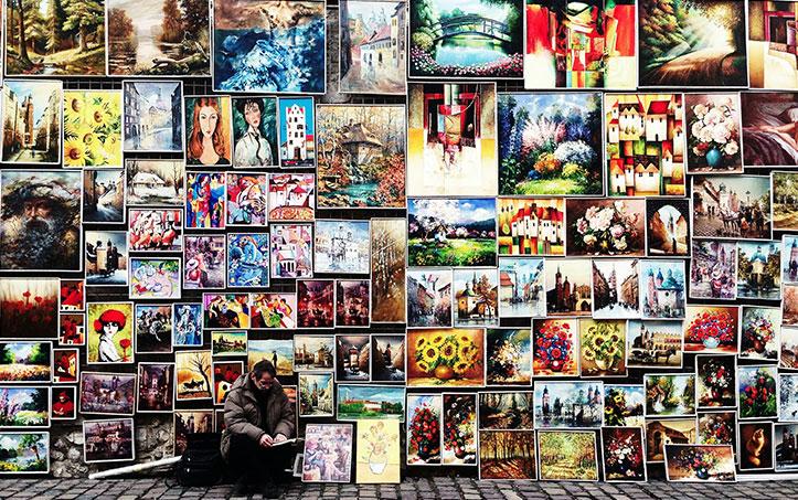 Post billede 4 tips til at skabe Vælg rammer - 4 tips til at skabe et væg-galleri i huset eller haven